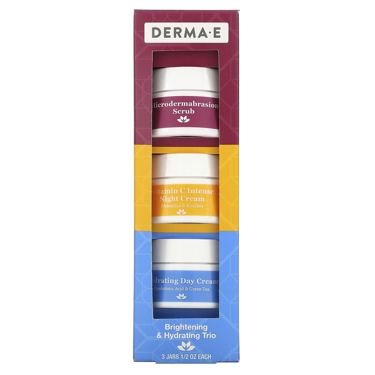 Осветляющее и увлажняющее трио, набор из 3 предметов Derma E