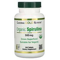 California Gold Nutrition, Organic Spirulina 500 mg, 240 таблеток