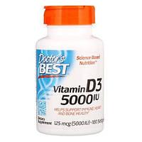 Doctor's Best  Vitamin D3 125 мкг (5000 IU)   180 softgels