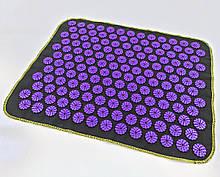 Килимок масажний Аплікатор Кузнєцова (для спини, ніг) OSPORT Їжачок 188 (apl-004) Чорно-фіолетовий
