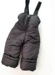 Штаны детские зимние полукомбинезон цвет серый