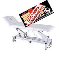 Стол массажный с регулировкой высоты массажная кушетка белого цвета для кабинета красоты DM-2301