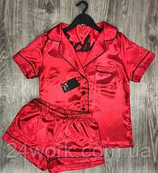 Женская пижама,рубашка с шортами