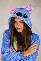 Кигуруми стич для мальчиков и девочек, взрослых и детей, синяя пижама, пижамы кигуруми для девушек, парней