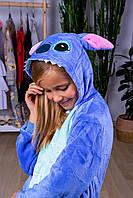 Кигуруми детская стич для мальчиков и девочек, детей пижама, пижамы кигуруми синяя