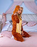 Кигуруми лев для мальчиков и девочек, взрослых и детей пижама, теплые пижамы кигуруми для девушек пикачу
