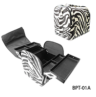 Профессиональная сумка для мастера маникюра, косметолога, парикмахера Зебра Lady Victory LDV BPT-01A /0-33