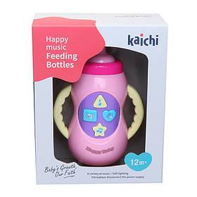 Музыкальная игрушка бутылочка, 15см,муз,звук,свет.на бат-ке, в кор-ке,