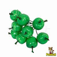 Декоративные яблоки зеленые 10 шт/уп на проволоке