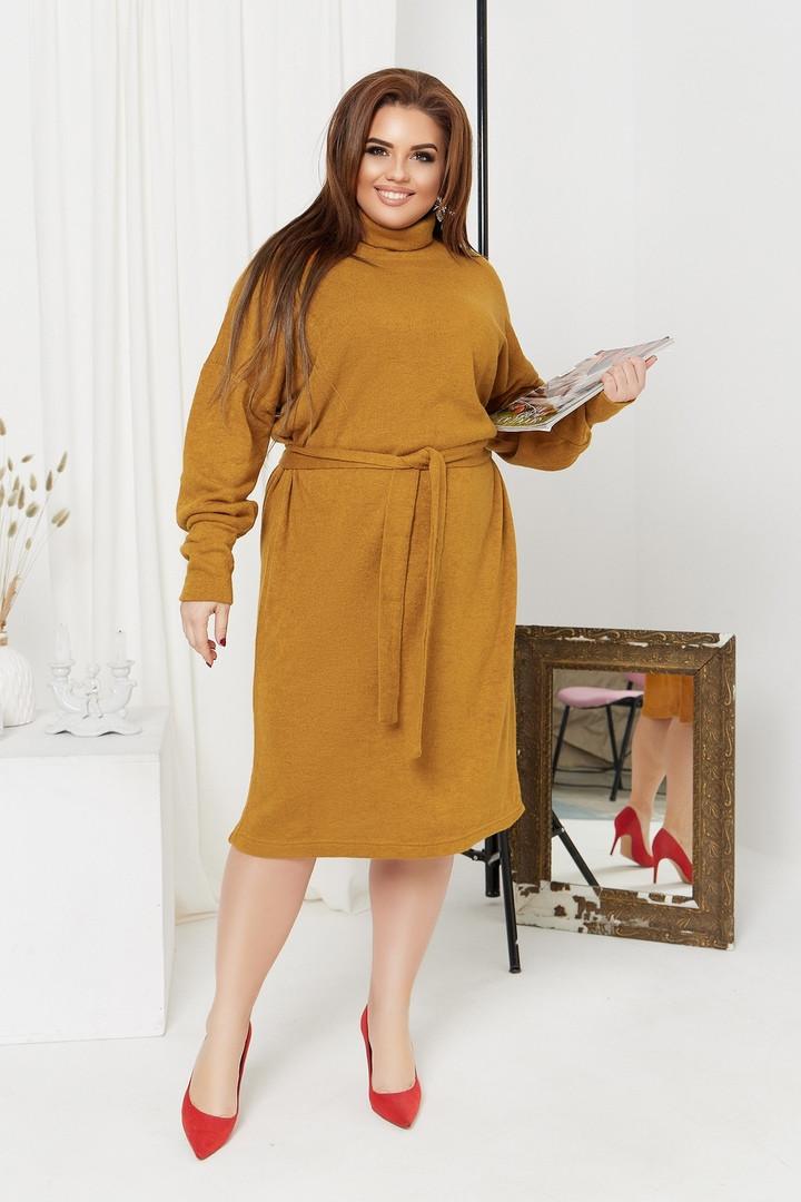 Женское ангоровое платье большого размера.Размеры:48/50,52/54,56/58+Цвета