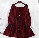 Платье женское свободного кроя с поясом, фото 3