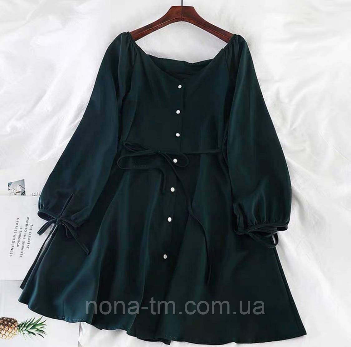 Платье женское свободного кроя с поясом