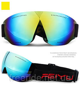 Лыжная маска FEIYU безрамочная (066) очки для сноуборда желтые