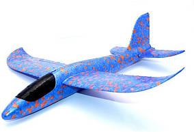 Метательный самолет планер 48 см Touch Sky Plane Original G1 Blue