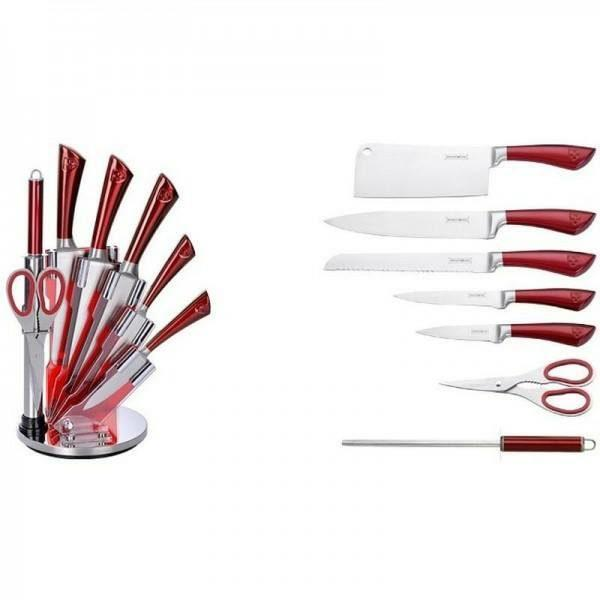 Набор металлических ножей на подставке Royalty Line RL-KSS804