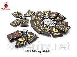 Кожаные сучасные брелки  с марками машин