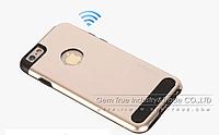 Бампер алюминиевый для iPhone 6 Plus - Motomo TPU Metal case (золотой)