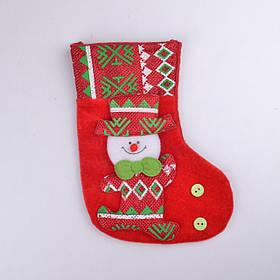 Рождественский сапог снеговик