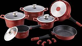 Набор посуды Royalty Line RL-ES2014M Burgundy