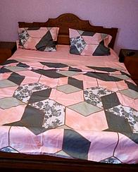"""Комплект постельного белья Бязь Gold """"Розовый Ромб"""" двухспальный 180*220 см"""