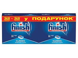Таблетки для посудомоечных машин Finish Tabs Classic 32 шт + 32 шт в подарок