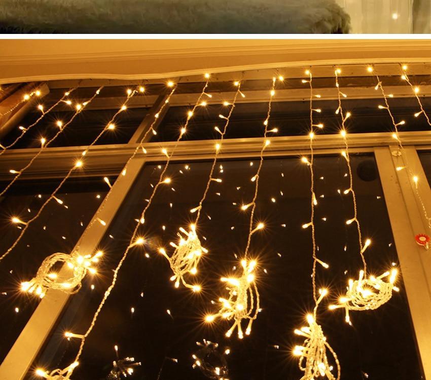 Гирлянда штора 3х2 240 led на окно. Купить Светодиодную гирлянду Водопад, Дождь, Занавес  AL-1797-65