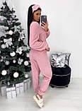 Комплект домашний женский мягкий белый, розовый, серый, графит 42-44,46-48, фото 8