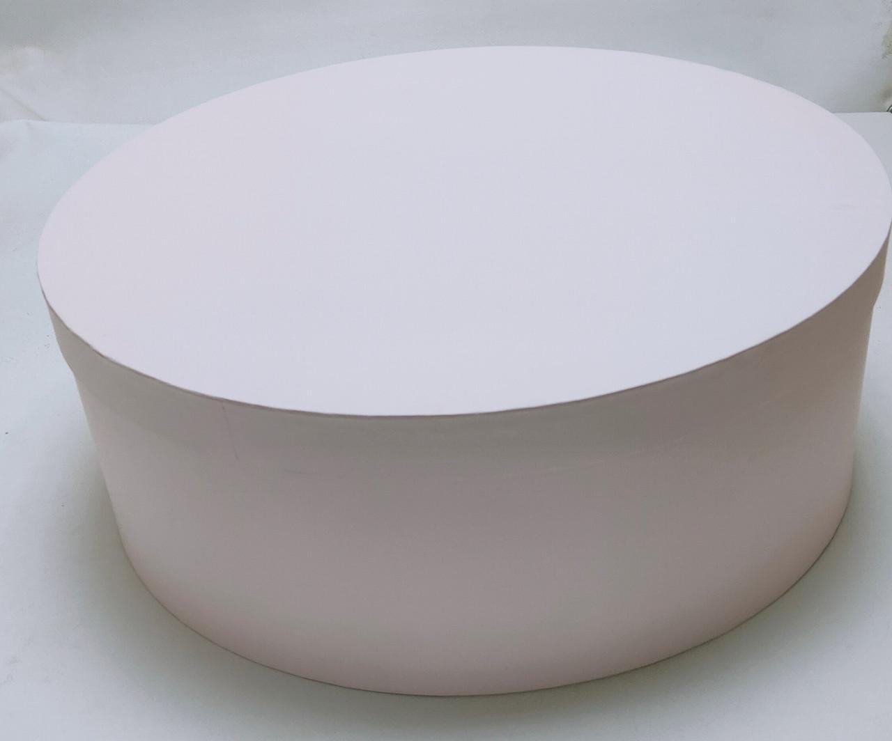 Коробка круглая d47см*h17см нежно-розовая большая