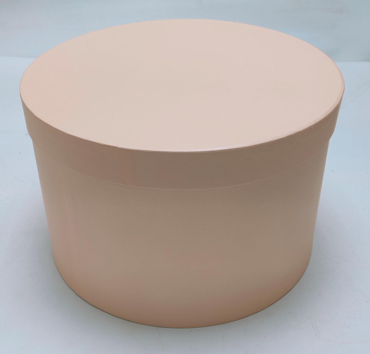 Коробка круглая d39см*h23,5см персиковая