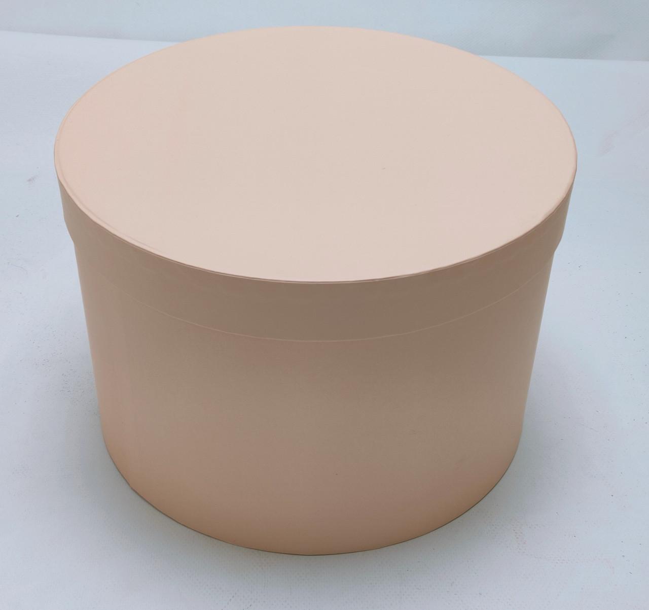 Коробка круглая d28см*h18см персиковая
