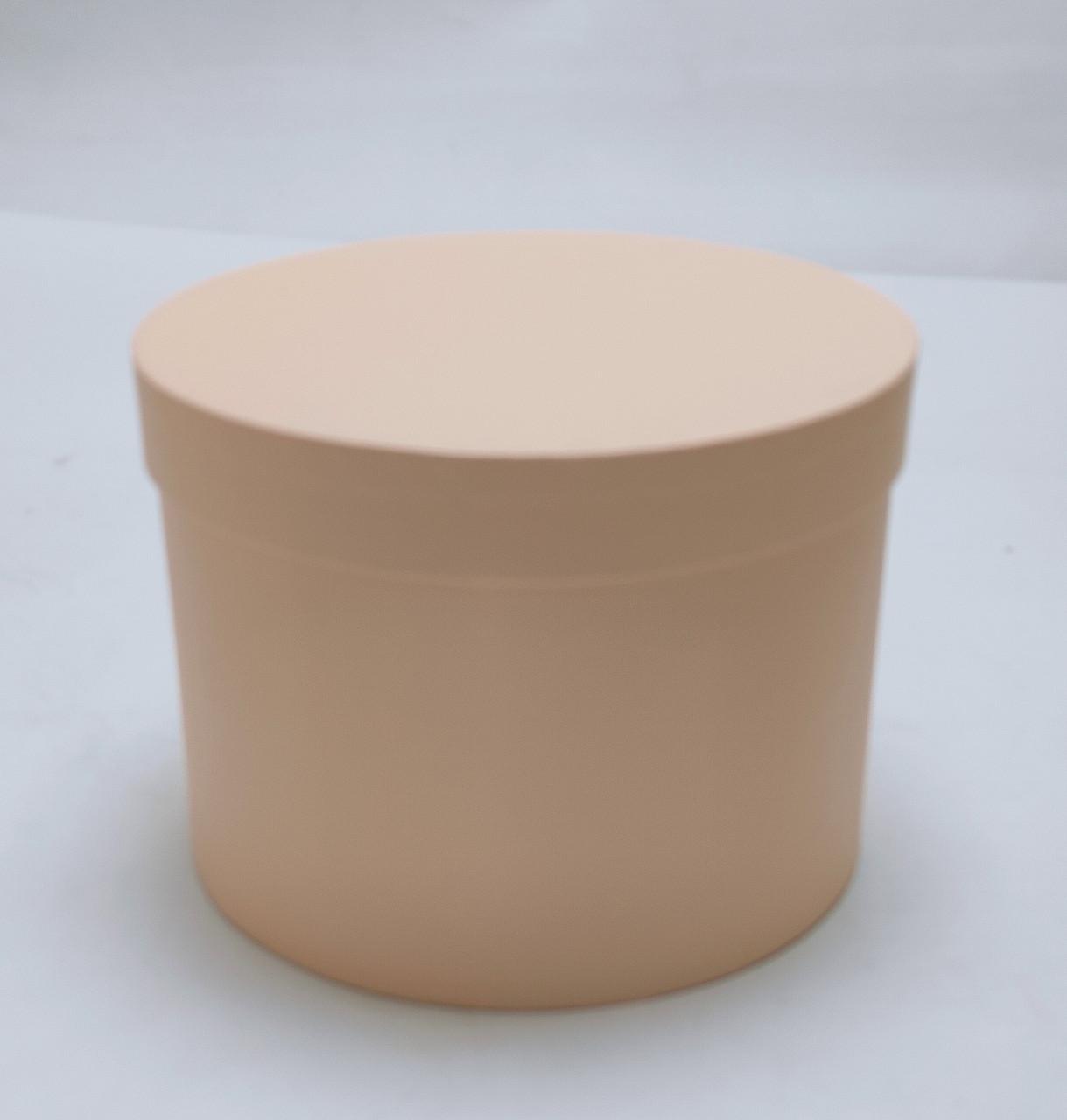 Коробка круглая d18,5см*h14см персиковая