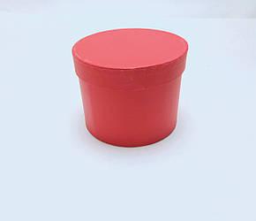 Коробка круглая  d14,5см*h11см красная