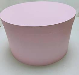Коробка круглая d42см*h25см розовая большая