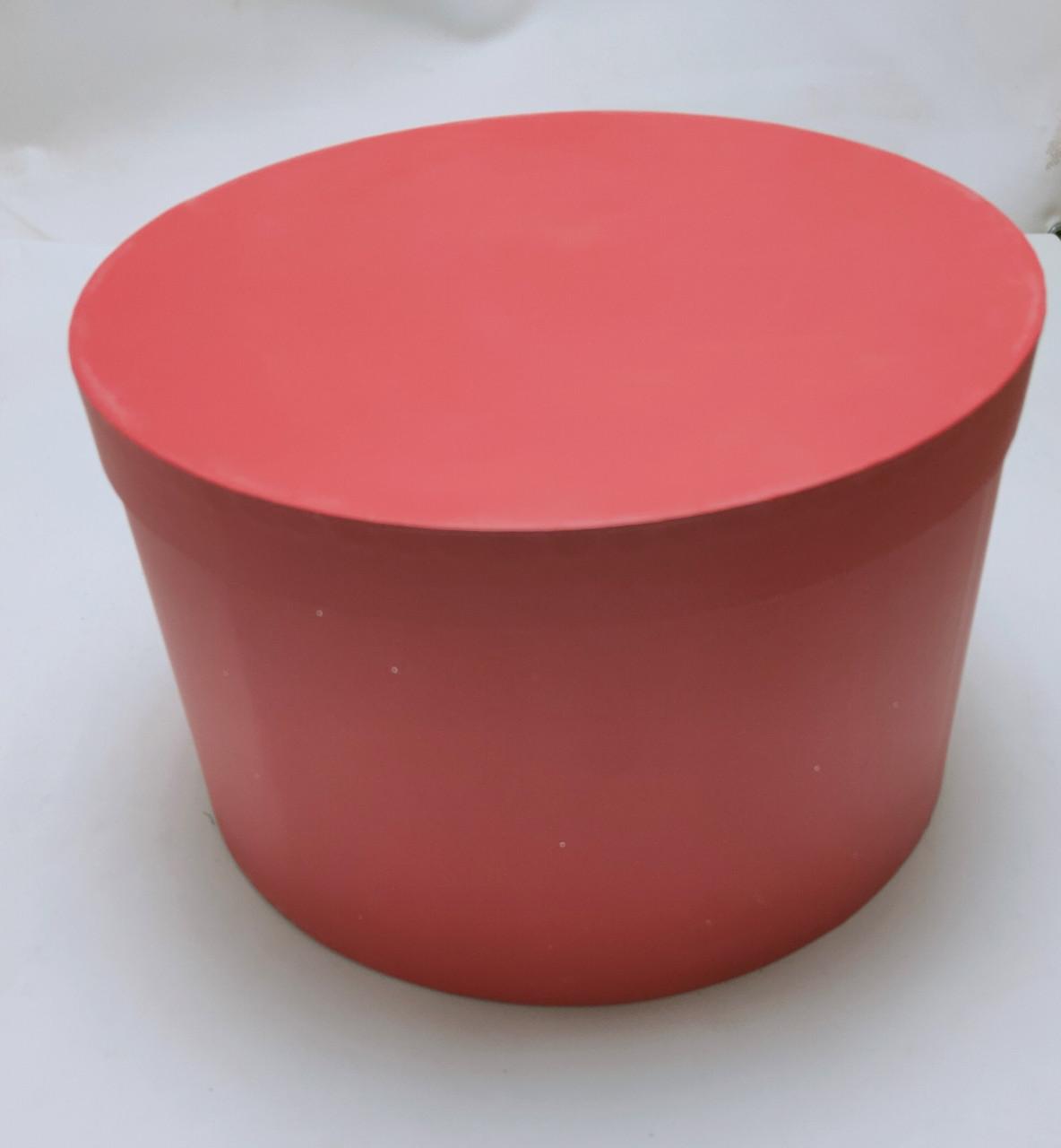 Коробка круглая d35см*h21.5см  красная