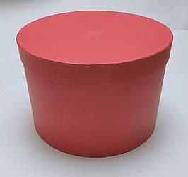 Коробка круглая  d26см*h16,5см красная