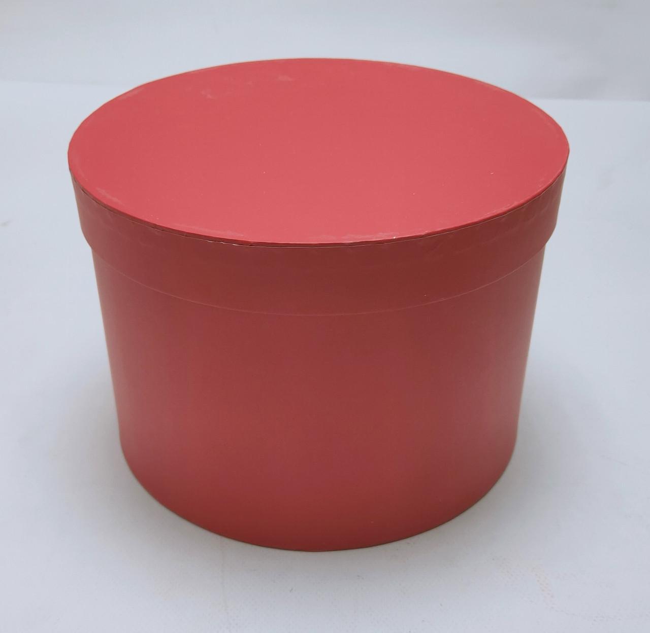 Коробка круглая d22см*h16см красная