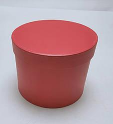 Коробка круглая d16см*h13см  красная