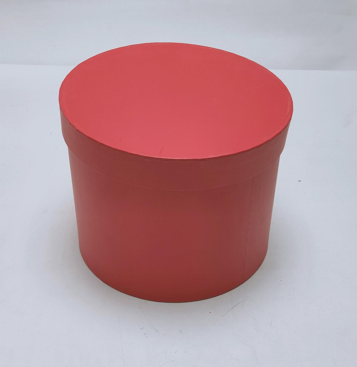 Коробка круглая  D18,5см*H14см красная