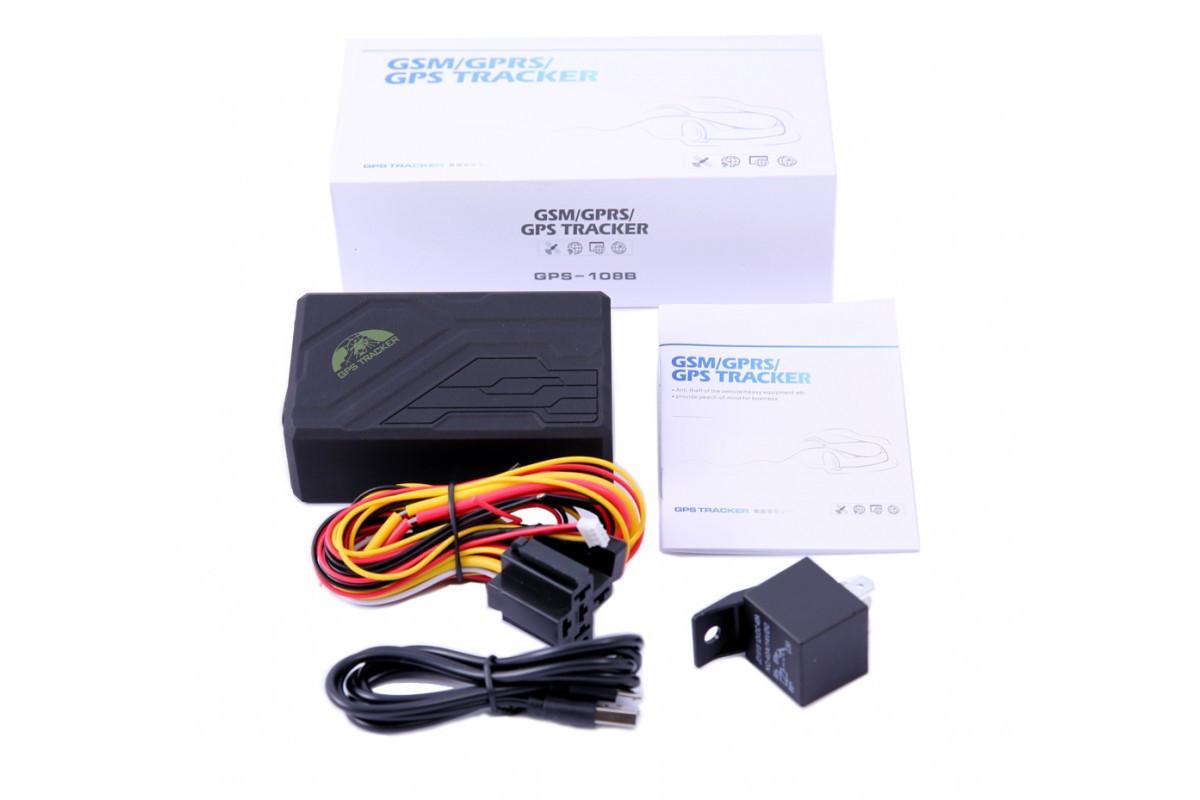 GSM GPRS трекер Coban TK108B  (ORIGINAL BOX + RELAY)  сигнализация,радионяня, микрофон, прослушка