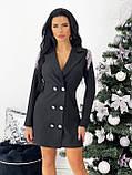 Платье- пиджак женское нарядное зелёный, пудра, белый, чёрный 42-44,46-48, фото 3