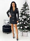 Платье- пиджак женское нарядное зелёный, пудра, белый, чёрный 42-44,46-48, фото 7