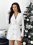 Платье- пиджак женское нарядное зелёный, пудра, белый, чёрный 42-44,46-48, фото 8