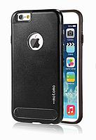Бампер алюминиевый для iPhone 6 Plus - Motomo TPU Metal case (черный)