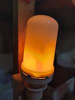 Лампа с эффектом пламени огня LED Flame Bulb А+E27, фото 6