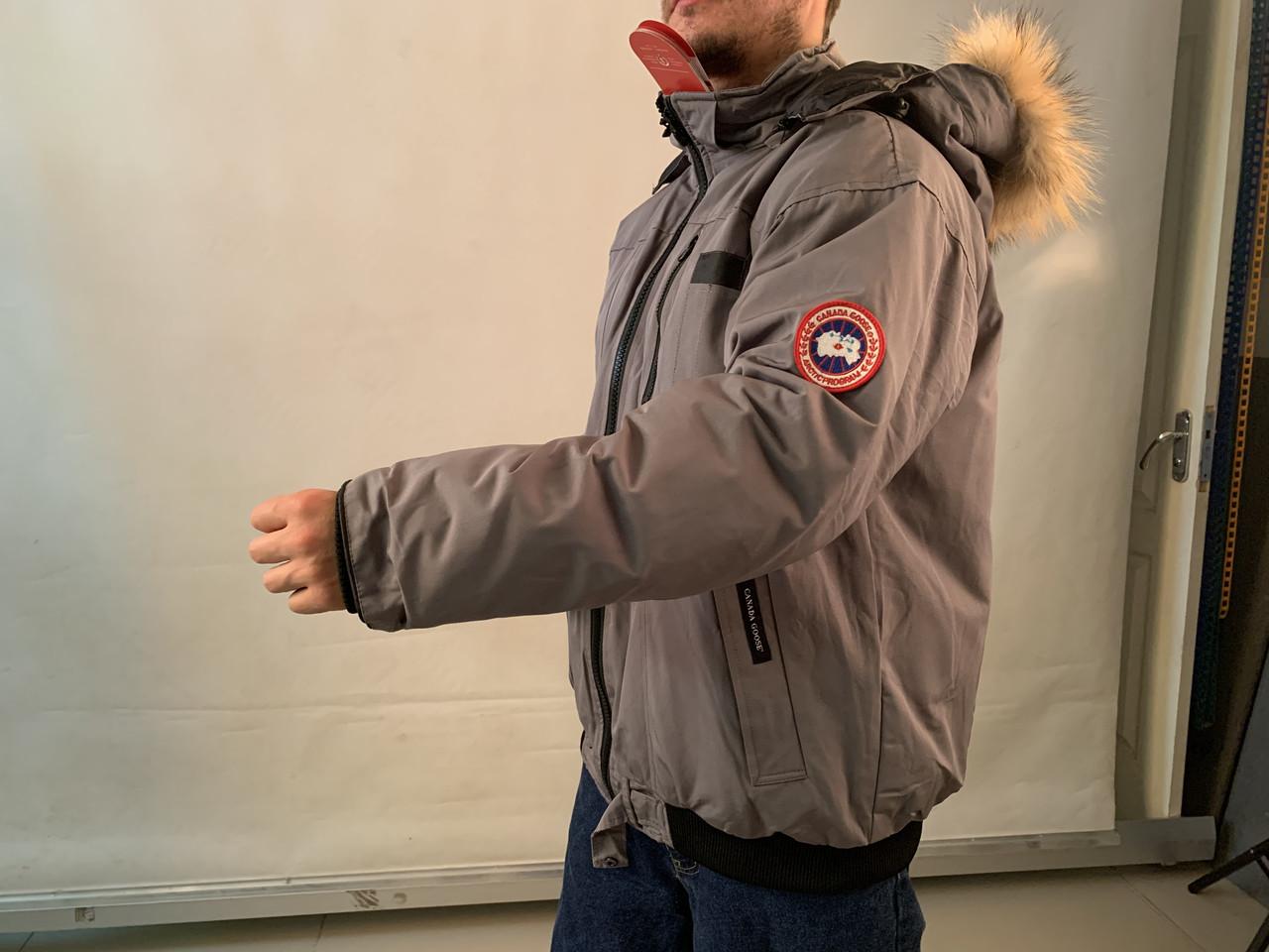 Canada goose chilliwack bomber Канада Гус зимний короткий пуховик темно серый