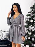 Платье женское новогоднее блестящее 42-44,46-48, фото 6