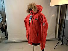 Зимний пуховик canada goose chilliwack bomber Канада Гус короткий мужской красного цвета, фото 2