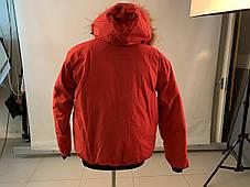 Зимний пуховик canada goose chilliwack bomber Канада Гус короткий мужской красного цвета, фото 3