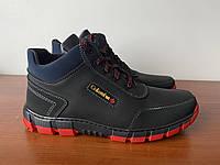 Чоловічі зимові черевики чорні теплі ( код 5554 ), фото 1
