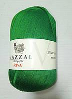 """Нитки """"GAZZAL  RIVA"""" Турция, цвет - Зеленый"""